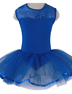 Ballet Tutus & Skirts Children's Performance Cotton Tulle Ruffles 1 Piece Sleeveless Tutus