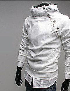 Men's Plus Size Active Hoodie Solid Micro-elastic Polyester Long Sleeve Fall Winter