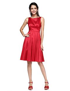 LAN TING BRIDE Knee-length Jewel Bridesmaid Dress - Elegant Sleeveless Taffeta