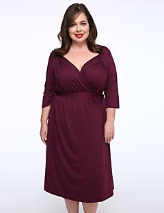 Women's Sexy Deep V-neck Vintage Elegant Plus Size Short Party Cocktail Party Dress