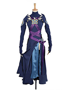 Inspired by Fire Emblem Cosplay Anime Cosplay Costumes Cosplay Suits Solid Purple Long SleeveDress / Pants / Cravat / Waist Accessory /