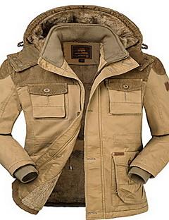 Trilha Blusas Homens Impermeável / Mantenha Quente / Confortável Inverno Algodão Verde Militar / Cáqui ClaroM / L / XL / XXL / XXXL /