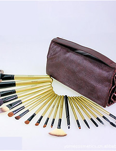 19 Makeup Brushes Set Horse / Mink Hair / Goat Hair / Squirrel / Synthetic Hair Travel / Full Coverage / Portable Wood Face / Eye / Lip