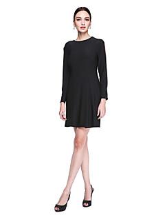 TS Couture® Koktélparty Ruha - Ivanka stílus / Celeb stílus Szűk szabású Ékszer Térdig érő Sztreccs szatén val vel