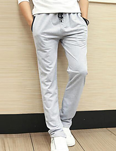 Men's Mid Rise Micro-elastic Sweatpants Pants,Active Simple Skinny Solid