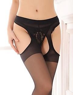 Damen Strumpfbänder & Hosenträger Besonders sexy Anzüge Nachtwäsche einfarbig Nylon Beige Schwarz