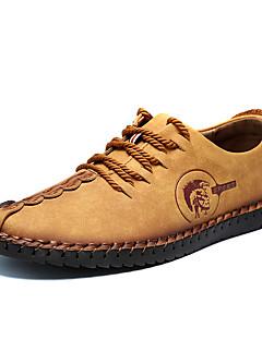 Herren-Sneaker-Büro Lässig-Leder-Flacher Absatz-Leuchtende Sohlen