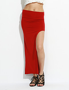 Dámské Sexy / Bodycon Asymetrické Polyester Lehce elastické Sukně