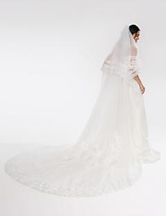 Свадебные вуали Два слоя Фата для венчания Тюль