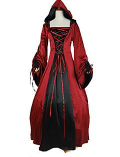 Jednodílné/Šaty Punk Lolita Viktoria Tarzı Cosplay Lolita šaty Jednobarevné Dlouhé rukávy Po kotníky Šaty Pro Šarmé