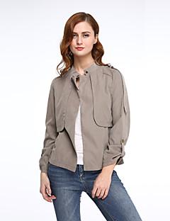Damen Jacke  -  Leger / Einfach Langarm Baumwolle Medium