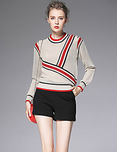 Damer Enkel Uelastisk Ret Shorts Bukser,Højtaljede Ensfarvet