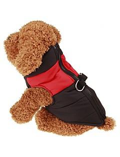 pejsky Kabáty Kamizelka Červená Zelená Modrá Růžová Oblečení pro psy Zima Jaro/podzim Jednobarevné Zahřívací