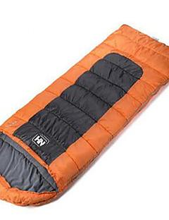 שק שינה שק שינה מלבני יחיד 10 כותנה חלולה 650g 200X75 צעידה קמפינג לטייל בתוך הביתעמיד למים מוגן מגשם עמיד ברוח מאוורר היטב מתקפל נייד