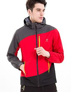 Hiking Coveralls Tracksuit Women's Men's Waterproof Thermal / Warm Windproof Fleece Lining Spring Fall/Autumn Winter TeryleneYellow Green