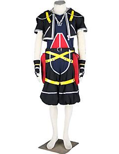 Inspirovaný Kingdom Hearts Cosplay Anime Cosplay kostýmy Cosplay šaty JednobarevnéKabát Kalhoty Rukavice Pásek Náhrdelník Více doplňků