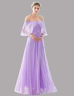 Floor-length Chiffon Bridesmaid Dress - Beautiful Back / Elegant A-line Strapless in stock