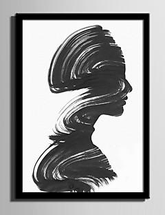 Abstract Persoane Pânză Înrămată Set Înrămat Wall Art,PVC Material Negru Fără Rogojină cu Frame For Pagina de decorare cadru Art