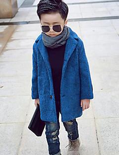 Jungen Jacke & Mantel-Lässig/Alltäglich einfarbig Baumwolle Winter Blau / Gelb