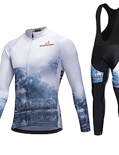 AOZHIDIAN Spring/Summer/Autumn Long Sleeve Cycling JerseyLong Bib Tights Ropa Ciclismo Cycling Clothing Suits #AZD053