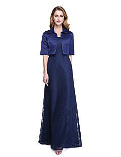Lanting Bride® A-Linie Šaty pro matku nevěsty - Včetně bolerka Na zem Poloviční rukáv Krajka Satén  -  Krajka