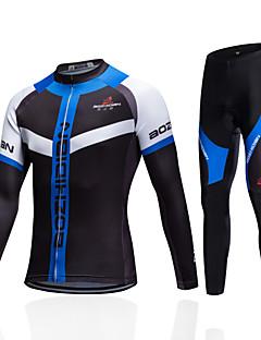 חולצת ג'רסי ומכנס קצר לרכיבה יוניסקס שרוול קצר אופנייםנושם ייבוש מהיר עמיד עיצוב אנטומי לביש חדירות גבוהה לאוויר (מעל 15,000 גרם) דחיסה