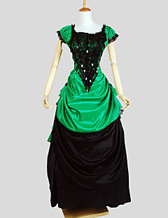 Outfits Gothic Lolita Victorian Cosplay Lolita Dress Solid Cap Short Sleeve Asymmetrical Tuxedo For Charmeuse