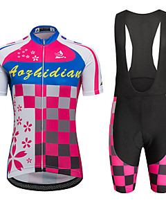 AOZHIDIAN Summer Cycling Jersey Short Sleeves BIB Shorts Ropa Ciclismo Cycling Clothing Suits #AZD005