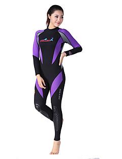 Dive & Sail® Mulheres 1,5 mm Mergulho Skins Macacão de Mergulho LongoImpermeável Respirável Térmico/Quente Secagem Rápida Resistente