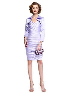 Szűk szabású Térdig érő Szatén Örömanya ruha - Cakkos által LAN TING BRIDE®