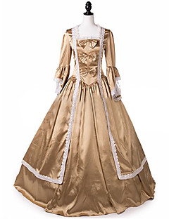 Steampunk®Marie Antoinette Royal Queen Satin Belle Period Dress Ball Gown Reenactment Theater Costume