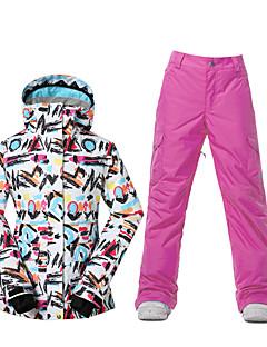 Sport Skitøj Ski/Snowboard Jakker Dame Vintertøj Polyester VintertøjVandtæt Åndbart Hold Varm Vindtæt Fleecefoer Ultraviolet Resistent