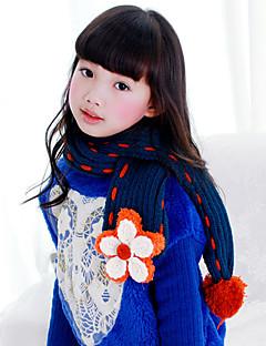 女性 スカーフ,ニット 冬 ブルー レッド