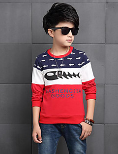 Boy Casual/Daily Solid Blouse,Rayon Spring Fall Long Sleeve