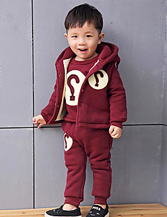 Boy Casual/Daily Solid SetsCotton Winter / Fall Long Sleeve Clothing Setwithout any accessory