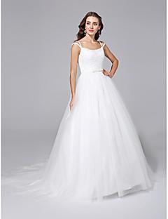 LAN TING BRIDE Da ballo Vestito da sposa - Classico Scollatura posteriore Strascico di corte Con bretelline Di pizzo Tulle conCon