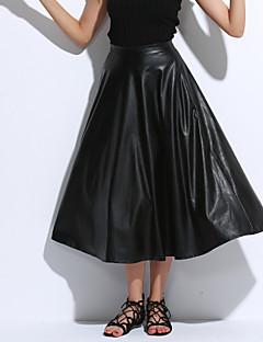 Ženy PU Sukně Bez pásku