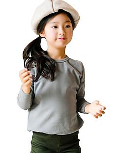 Girl Casual/Daily Solid Hoodie & Sweatshirt,Rayon All Seasons Long Sleeve Regular