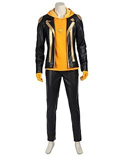 Вдохновлен Воин Ace видео Игра Косплэй костюмы Косплей Костюмы Косплей вершины / дна Пэчворк Черный ЗолотистыйПальто Кофты Хакама штаны