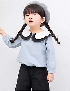 Girl Casual/Daily Holiday School Solid Shirt,Cotton Spring Long Sleeve