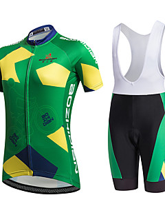 AOZHIDIAN Summer Cycling Jersey Short Sleeves BIB Shorts Ropa Ciclismo Cycling Clothing Suits #AZD070