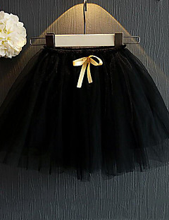 Girl Casual/Daily Patchwork Skirt-Acrylic Summer Spring Fall