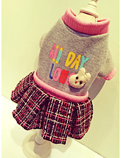 Dog Coat Dress Green White Pink Dog Clothes Summer Bowknot Cute Casual/Daily