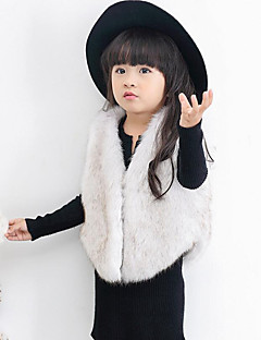 Girl Casual/Daily Holiday Solid Floral Vest,Polyester Winter Spring Fall Sleeveless