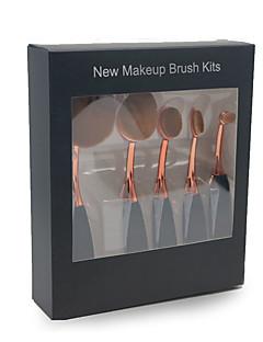 5 Conjuntos de pincel Pincel para Blush Pincel para Sombra Pincel de Delineador de Olhos Pincel para Corretivo Pincel para BasePêlo