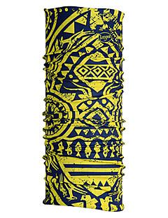 Halstücher Fahhrad Atmungsaktiv Rasche Trocknung Windundurchlässig Feuchtigkeitsdurchlässigkeit Unisex Gelb Polyester