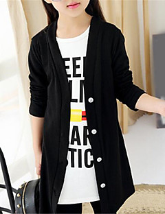 Girl's Casual/Daily Solid Sweater & Cardigan,Cotton Spring / Fall Black / White