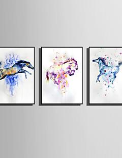 Abstrakt Dyr Indrammet Lærred Indrammet Sæt Vægkunst,PVC Materiale Sort Ingen Måtte Med Ramme For Hjem Dekoration Ramme Kunst