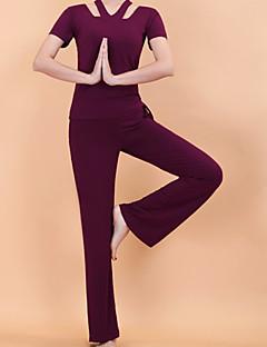 Yoga Kleidungs-Sets Atmungsaktiv Komfortabel Dehnbar Sportbekleidung Damen Yoga
