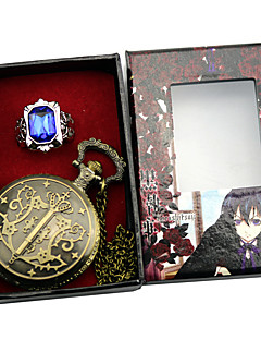Clock/Watch Cosplay Accessories Inspired by Black Butler Ciel Phantomhive Anime Cosplay Accessories Clock/Watch Ring Blue Alloy Male